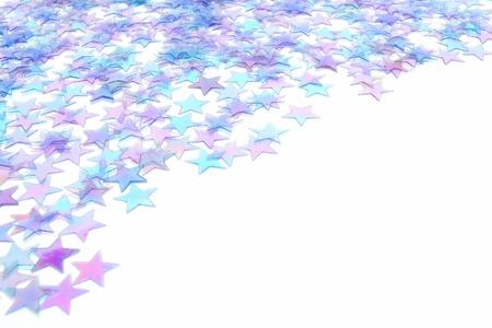 블루 스타 색종이 새로운 년 이브 또는 겨울 국경 스톡 콘텐츠