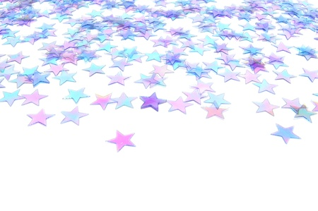 Blue star confetti New Years Eve or winter background photo