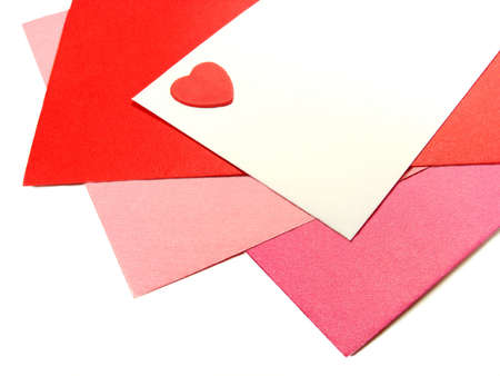 Colorful Valentines Day greeting card envelopes with heart Stock Photo - 11808492