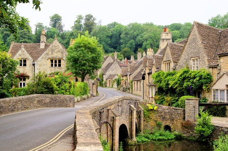 english village: Picturesque Cotswold village of Castle Combe, England