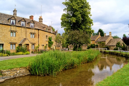Village of Lower Slaughter in the Cotwolds of England