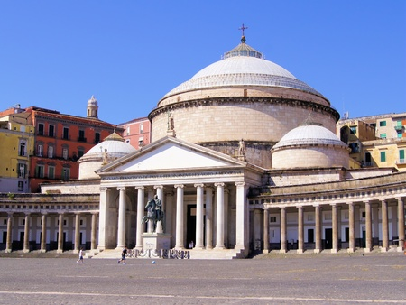 San Francesco di Paola, Plebiscito Square, Naples, Italy photo