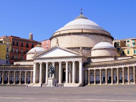 San Francesco di Paola, Plebiscito Square, Naples, Italy Stock Photo