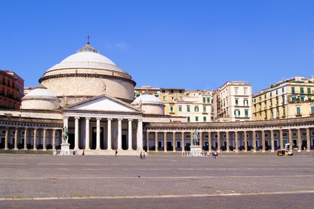 plebiscite: San Francesco di Paola, Plebiscito Square, Naples, Italy Editorial