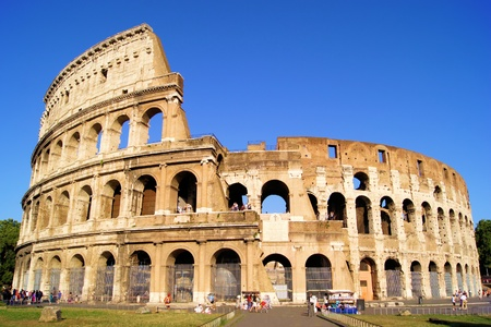 colosseum: The iconic ancient Colosseum of Rome Stock Photo