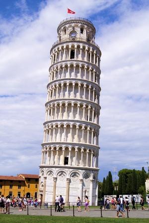 Famous Italian landmark, the Leaning Tower of Pisa