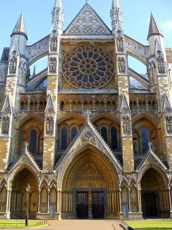 Side entrance to Westminster Abbey, London, England  photo