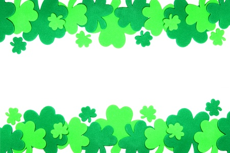 St Patricks Day shamrock border Stock Photo - 12603553