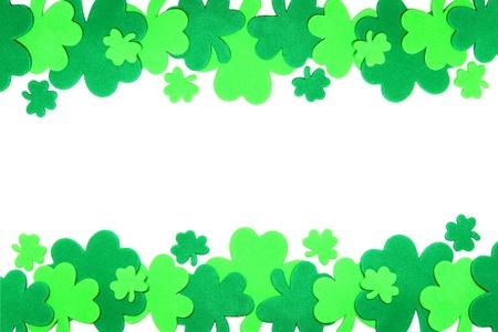 St Patricks Day shamrock border photo