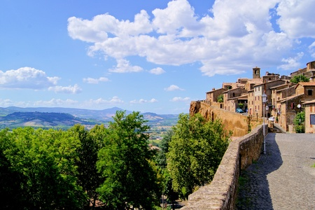 orvieto: View of Orvieto, overlooking the Umbrian countryside, Italy