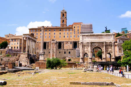 Ancient ruins of the Roman Forum, Italy