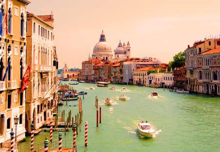 venice: Grand Canal of Venice view with Santa Maria della Salute Editorial
