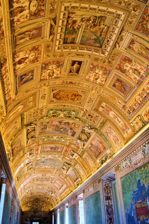italian fresco: Vatican Museums - Gallery of the Geographical Maps