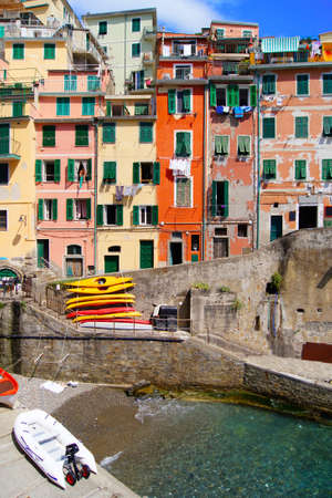 Colorful houses of Riomaggiore, Cinque Terre, Italy