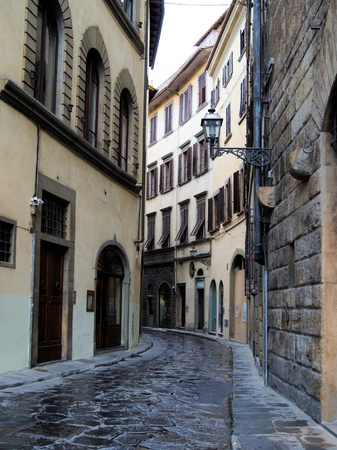 Typical old street in the center of Florence, Italy Stock Photo - 13363419