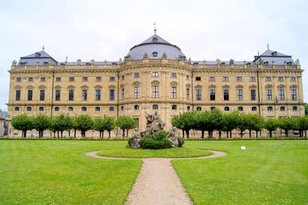 residenz: Wurzburg Residenz palace and its gardens, Germany