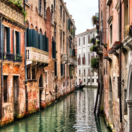 quaint: Quaint canal in historic Venice  with HDR processing