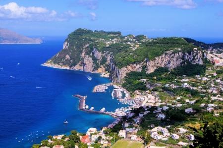 capri: Aerial view over the famous island of Capri, Italy  Stock Photo