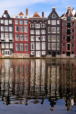 Canal houses of Amsterdam, The Netherlands with reflections Stock Photo - 14615180