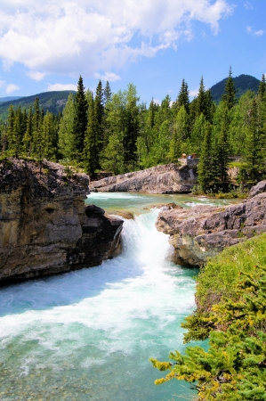 america countryside: Elbow Falls, Kananaskis Country, Alberta, Canada