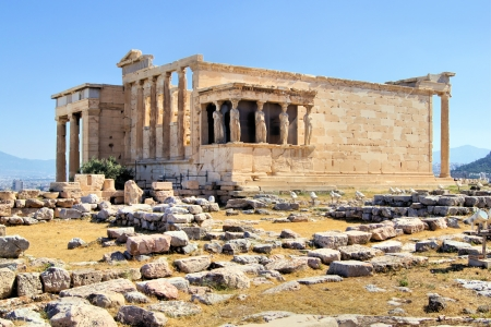 greek temple: Athens acropolis - Erechtheion with Porch of the Caryatids, Greece