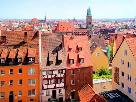 nuremberg: View over the the old town of Nuremberg, Germany Stock Photo