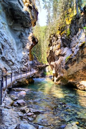 banff: Steep valley in Johnston Canyon, Banff National Park, Canada