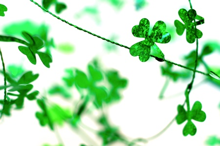 St Patrick s Day shamrock garland background Stock Photo - 17681058