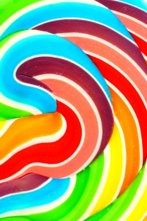 lollypop: Close up of the colorful swirls of a lollipop candy Stock Photo