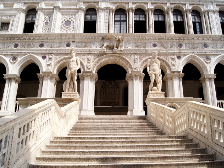 piazza san marco: Giant s Stairway of the Doge s Palace, Venice, Italy