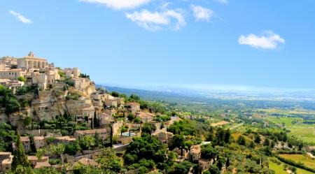provencal: Panaramic view of the hilltop village of Gordes, Provence, France