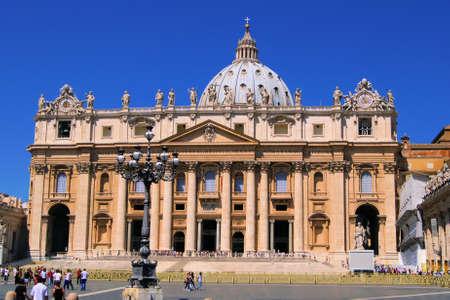 vatican city: Facade of St Peters Bascilica, Vatican City
