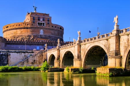 italy culture: Castel Sant Angelo and Bridge of Angles, Rome, Italy
