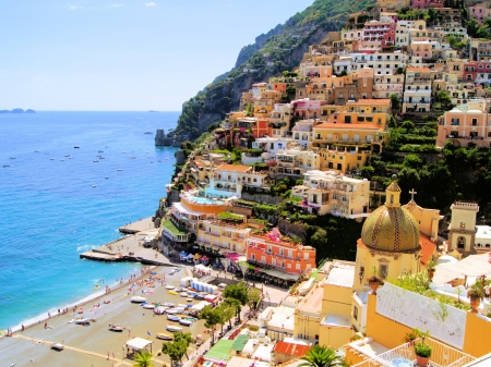 View of the town of Positano, Amalfi Coast, Italy photo