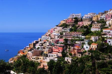 italian village: View of the town of Positano, Amalfi Coast, Italy