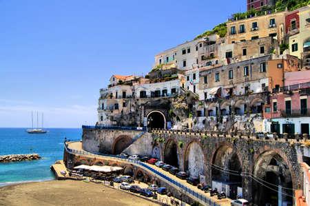sorrento: Colorful houses of Atrani, Amalfi Coast, Italy Editorial