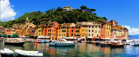 Panoramic view of Portofino, Italy  photo