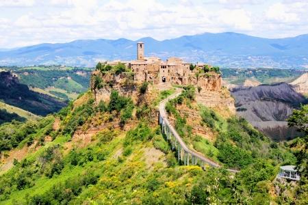 italian village: Beautiful view of the Italian hill town of Civita di Baneregio
