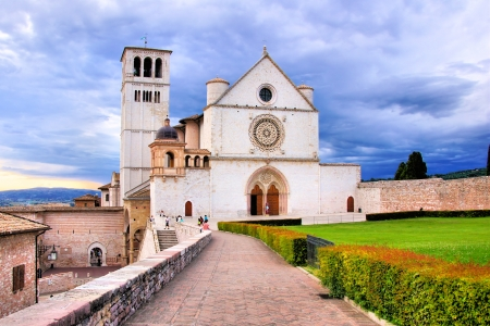 st  francis: View of the Basilica of St Francis, Assisi, Italy