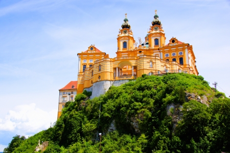 View of the historic Melk Abbey, Austria Stock Photo