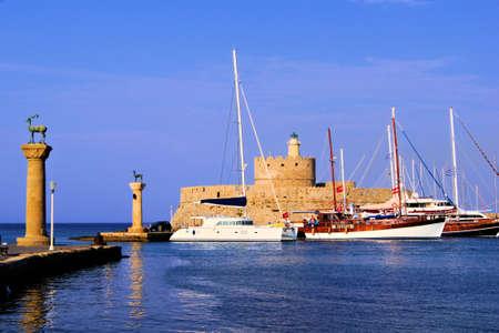 rhodes: Ancient fortress at Mandraki Harbor, Rhodes, Greece