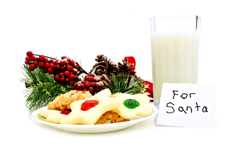 plate: Milk and Cookies for Santa