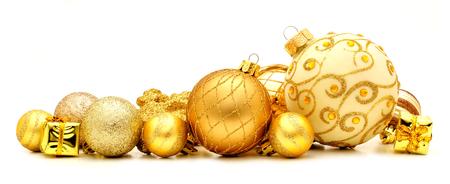 테두리를 형성하는 황금 크리스마스 싸구려의 컬렉션