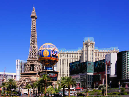 nv: LAS VEGAS - SEPT 27  Paris Las Vegas Hotel and Casino on 27 Sept 2013 in Las Vegas, NV   Opened in 1999, the theme hotel recreates the famous Eiffel Tower and other Parisian landmarks Editorial