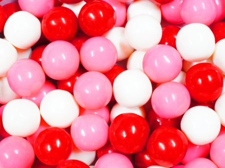 bubblegum: Valentines Day themed red, pink and white gumball