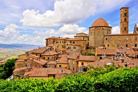 volterra: View over the medieval hill town of Volterra, Tuscany, Italy