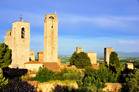 Medieval towers of San Gimignano, Tuscany, Italy  photo