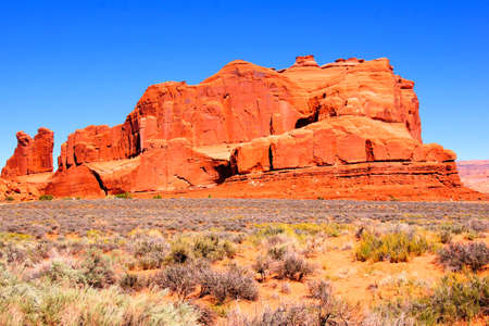 Picturesque rock formations at Arches National Park, USA photo