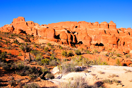 Red rock of the Fiery Furnace, Arches National Park, USA photo