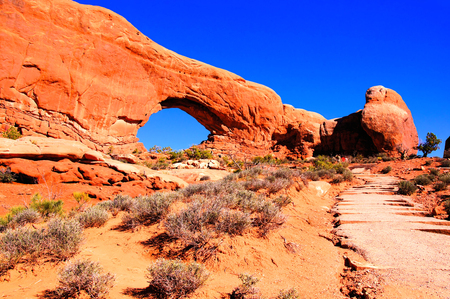 Arches National Park, USA, view of North Window arch photo